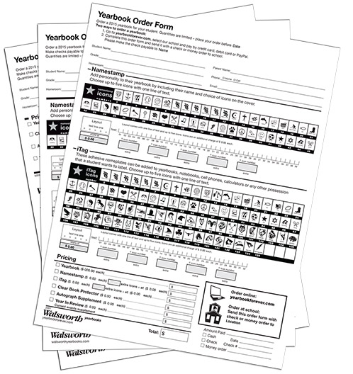 Create Yearbook Order Forms Using These Easy Customizable Templates