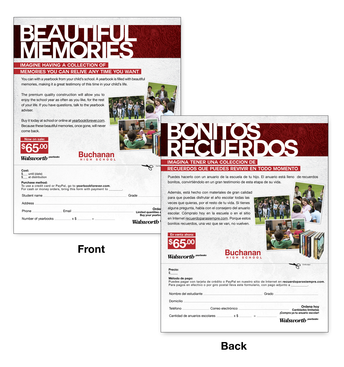 About Accent Marketing Latino Marketing Flier With Order Form Example
