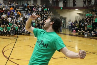 Emilie Jepsen - performing at pep rally